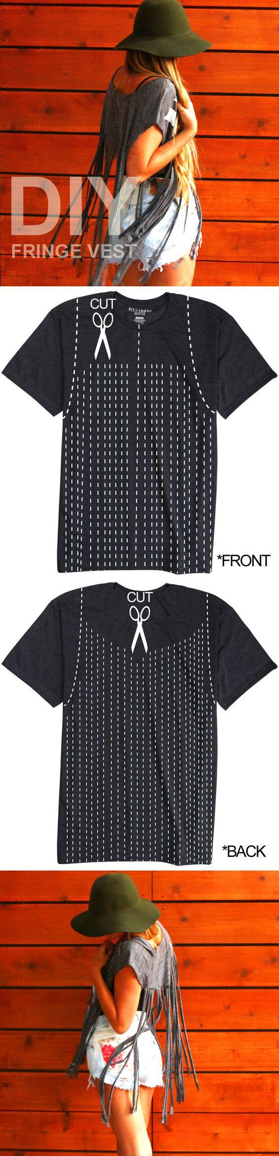 DIY TUTORIAL: Fringe Vest