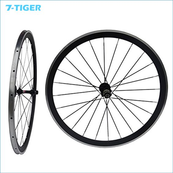 $360.00 (Buy here: http://appdeal.ru/dgi1 ) 700C Carbon Matt Road Bike Clincher Wheelset 38mm Bicycle Wheel Rim with Alloy Brake Side with Novatec Hub for just $360.00