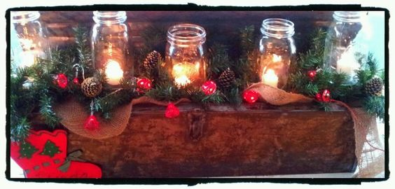 Tool box and mason jar kinda Christmas!