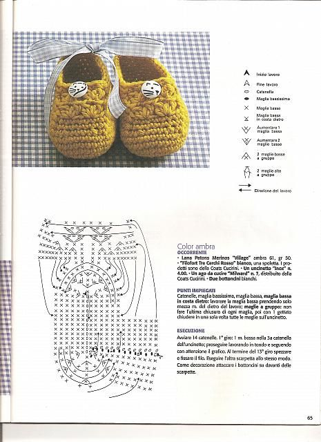 Crochet baby bootties: