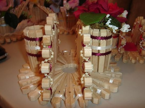 Canastas y servilleteros de pinches de ropa for Porta ganchos de ropa