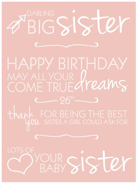 older sister birthday quotes - photo #16