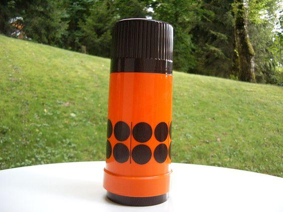 Vintage Service - Thermoskanne, Thermosflasche, Rotpunkt, Vintage - ein…