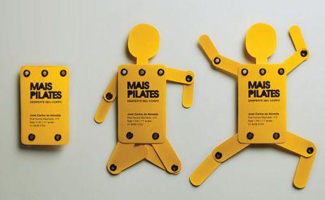 "Mais Pilates Studio's ""wake up your body"" business card."