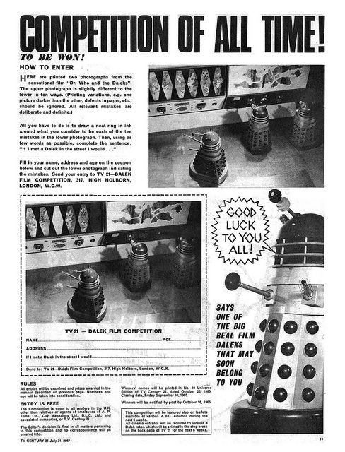 TV Century 21 The Greatest Dalek Competition On All Time 2, via Flickr.