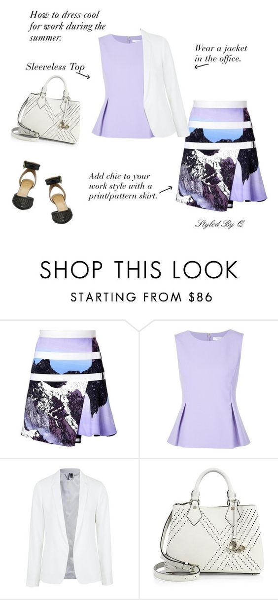 """Dress Cool For Work!"" by quintan ❤ liked on Polyvore featuring Peter Pilotto, Diane Von Furstenberg, Topshop and Nine West"