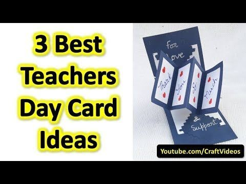 Teachers Day Card Ideas These Are 3 Best Handmade Greeting Cards