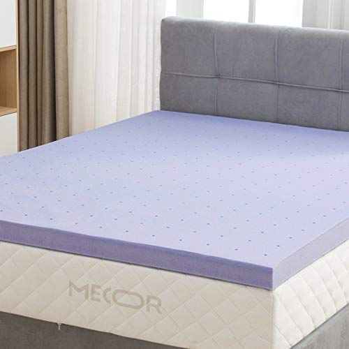 Mecor 2 Inch King Size Gel Infused Memory Foam Mattress Topper
