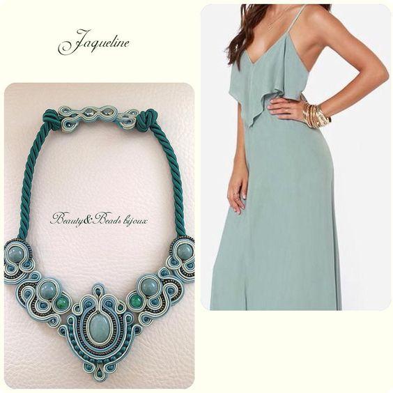 """Jaqueline"" con giada, agata verde e retro in pelle! #collana#necklace#soutache#soutachemania#soutachejewelry#beautyandbeadsbijoux#beautyandbeadsbijouxsoutache#beautyandbeadsbijouxsoutachenecklace#bijoux#jewelry#jewels#ss2016#jaqueline#girl#girls#igers#picoftheday#ootd#shopping#shoppingonline#follow#followforfollow#fashion#fashionblogger#design#designer#"