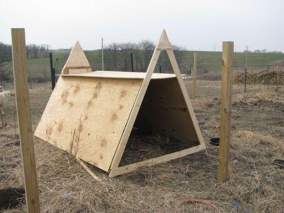Quick goat shelter for winter