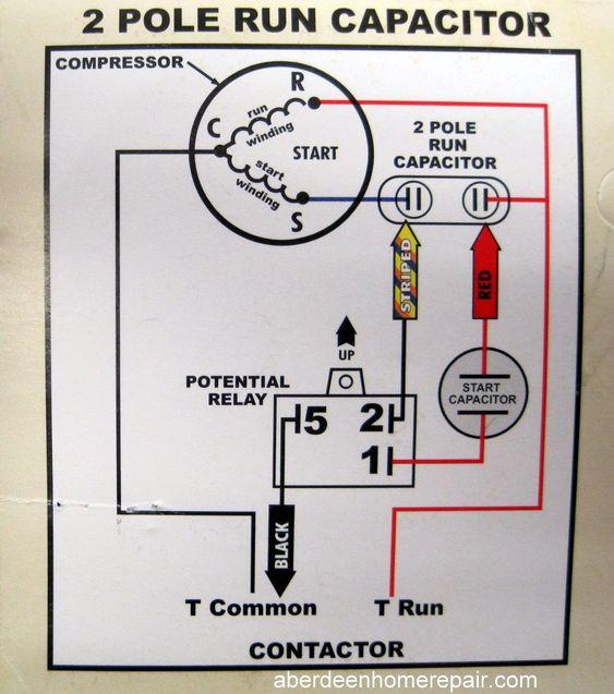 Compressor Start Relay Wiring Diagram, Run Capacitor Wiring Diagram