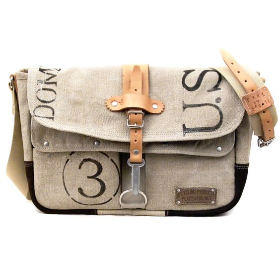 Postbag Canvas Designer Messenger // Handmade & Upcycled by peace4you, GERMANY // Model paul-2088 ( multiple options ) by peace4youBAGS on Etsy https://www.etsy.com/listing/219242061/postbag-canvas-designer-messenger
