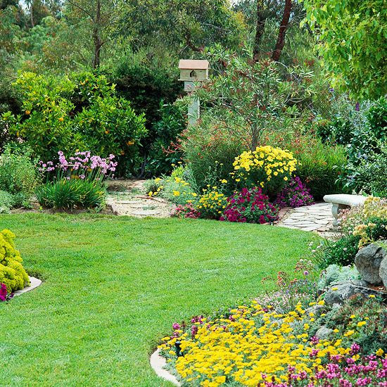 Gardens landscape maintenance and backyards on pinterest for Large grasses for landscaping