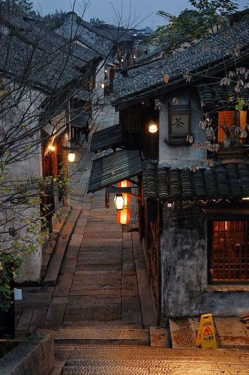 Wuzhen old town in Zhejiang province, China: