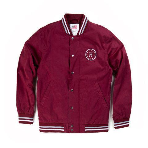 Huf Burgundy Baseball Jacket | Goods | Pinterest | Prodotti di ...