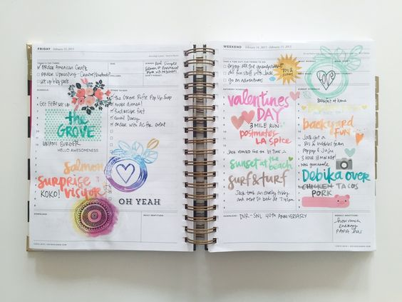 Decorating your planner.  Make your day prettier.  Record unscheduled events you did after the fact (for memory keeping)
