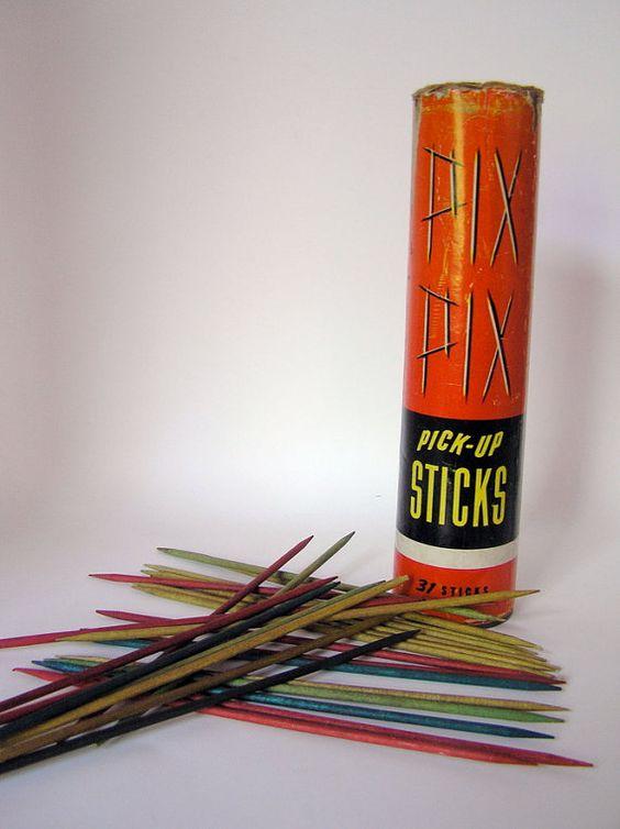 pick up sticks!