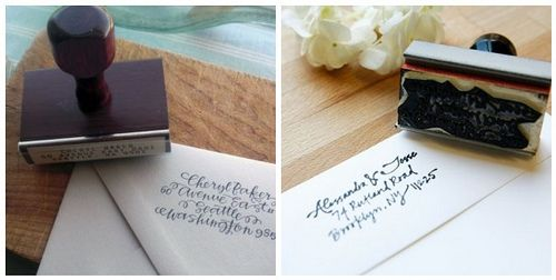 Use a calligraphy stamp to give invitation envelopes an elegant feel while sparing your hands.