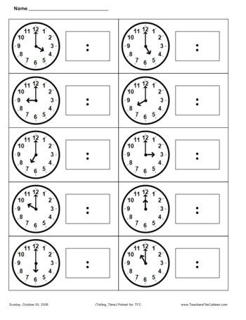 Telling Time | Math | Pinterest | Telling Time, Worksheets and ...