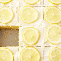 Lemonade Cake Bars - made with frozen lemonade concentrate.  Top with thinly sliced lemons for a great presentation.: Lemon Cake, Cake Recipe, Sweet Treats, Sweet Tooth, Lemonade Cake, Lemon Lime, Lemon Bar