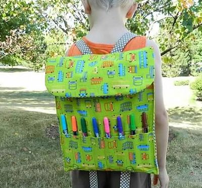 Little Artist Backpack - awesome tute over at Sew Mama Sew!