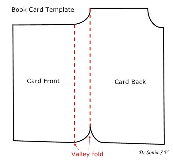 Book Shaped Card Tutorial And Template Card Tutorial Shaped Cards Cards