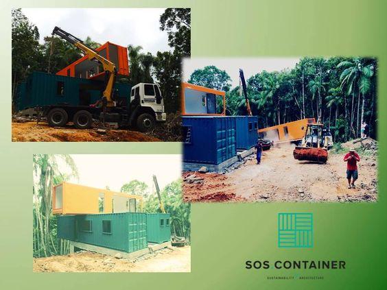Montagem do sobrado container pela SOS Container: