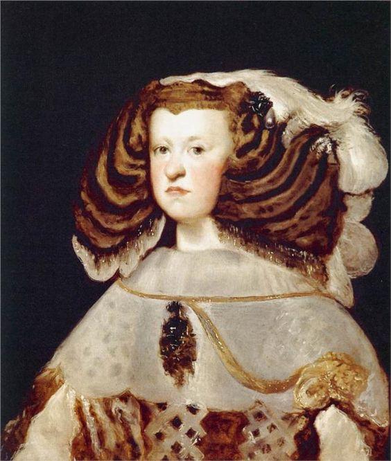 Diego Velázquez (Spanish 1559–1660) [Baroque, Portrait] Portrait of Mariana of Austria, Queen of Spain, 1655-1657. Fundación Colección Thyssen Bornemisza.