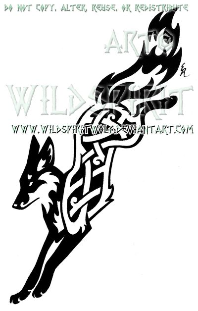 Knotwork Leaping Fox Design By Wildspiritwolf Deviantart