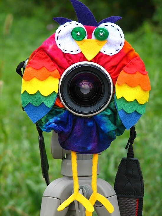 custom Limited Edition TIE DYE OWL Lens Pet for your camera. $28.50, via Etsy.