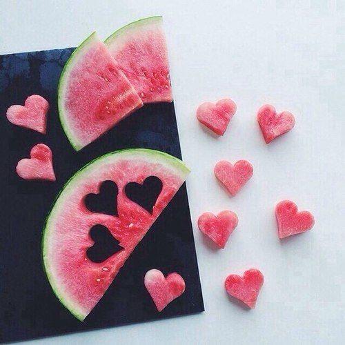 corações de melancia <3