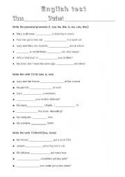 English Test For Beginners Worksheet - english test for kids ...