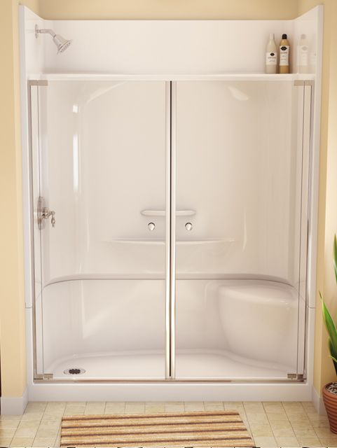 Tile shower & tub to shower conversion - bathroom renovation ...