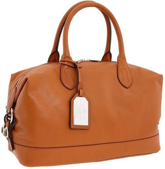 Ralph Lauren Hancock satchel, my latest handbag purchase. I love it.