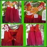 Size 1 Girls Christmas Angel back tied dress. www.hand-made.com.au/coraleehandcrafteddesigns