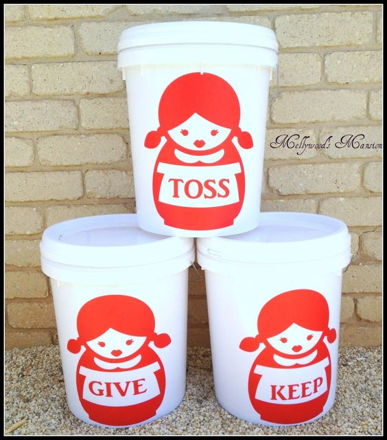 Organising Buckets - make cleaning quicker & cuter with these DIY buckets