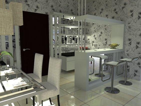 Small kitchen interior design with mini bar tablehome for One room kitchen interior design