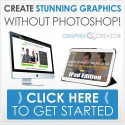 Create professional graphics for your website without photoshop with our Graphix Creator!