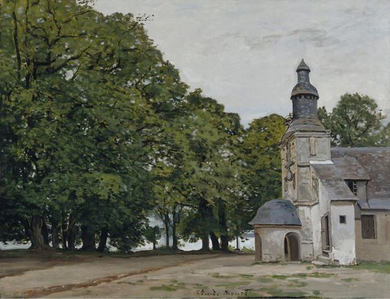 Claude Monet   The Chapel Of Notre Dame De Grace  Honfleur  1864
