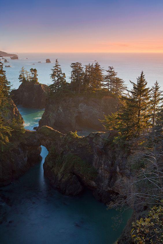 The coast of Oregon.