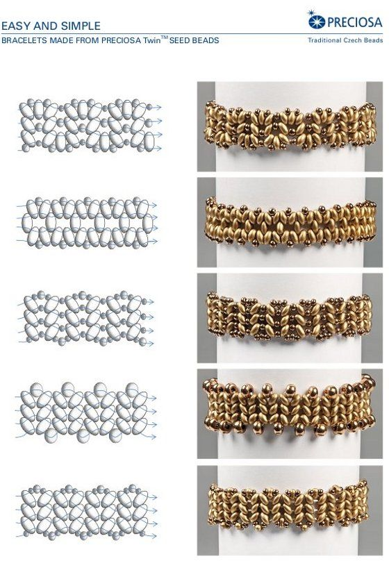 "superduo - samples.  Free PDF for ""easy bracelets""  ~ Seed Bead Tutorials"