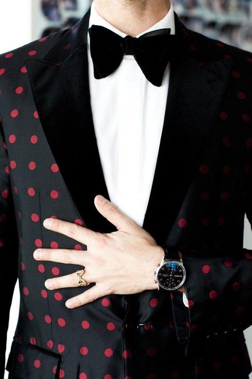 Dot Tux & Silk Bow Tie I'd rock it..