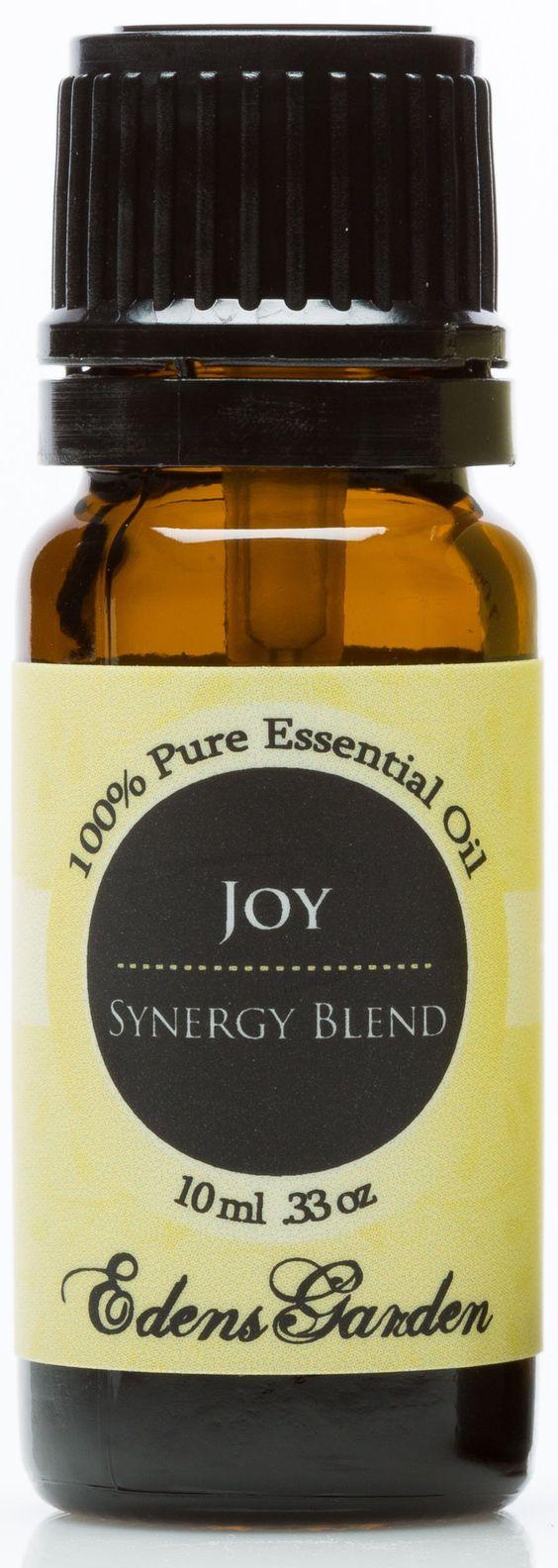 Joy Synergy Blend Essential Oil- 10 ml (Bergamot, Geranium, Jasmine, Lemon, Mandarin, Palmarosa, Roman Chamomile, Rose, Rosewood, Sweet Orange and Ylang Ylang)
