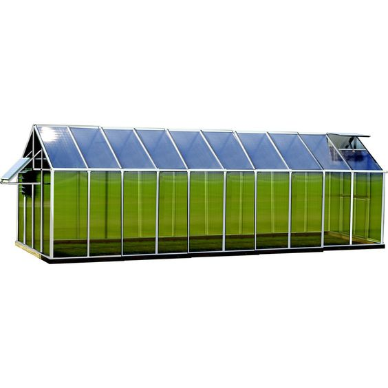 Monticello 20.4-ft L x 8.1-ft W x 7.6-ft H Metal Polycarbonate Greenhouse