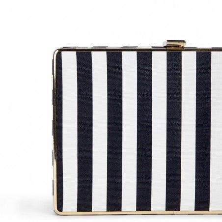 Stripe Box Clutch