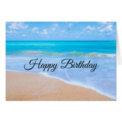 Tropical Beach With A Turquoise Sea Birthday Card Zazzle Ca