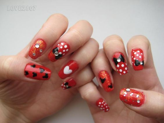 Minnie Mouse Nail Designs Nail Art Design Minnie Mouse Things