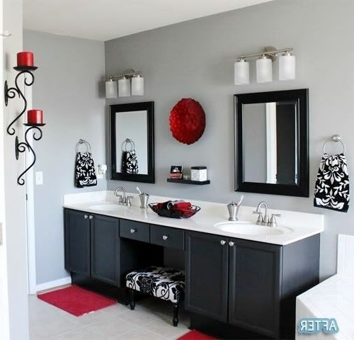 Red And Black Bathroom Design Yahoo Image Search Results Gray