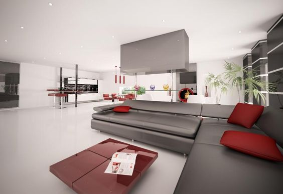 Window treatments for a living room with a black sofa