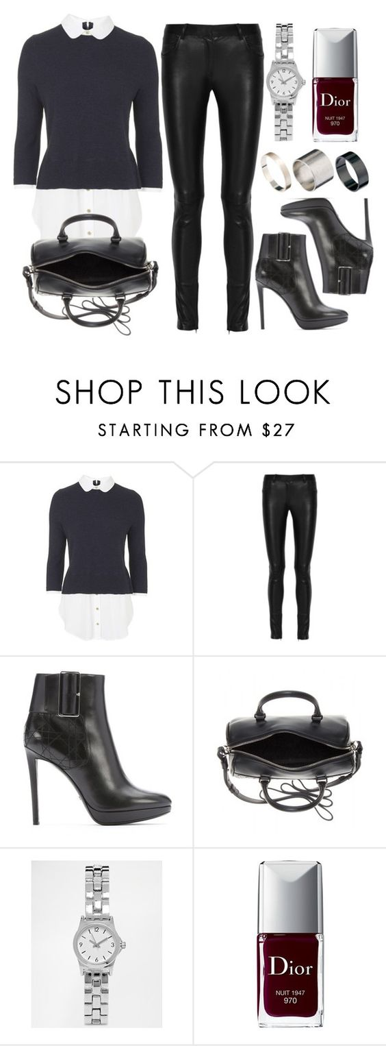 """""""Style #9384"""" by vany-alvarado ❤ liked on Polyvore featuring Topshop, The Row, Christian Dior, Yves Saint Laurent, ASOS and Just Acces"""
